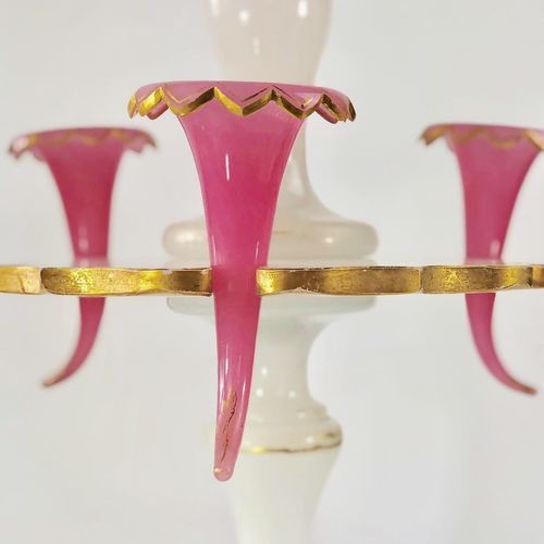 Giant 19th Century English glass centrepiece epergne vase