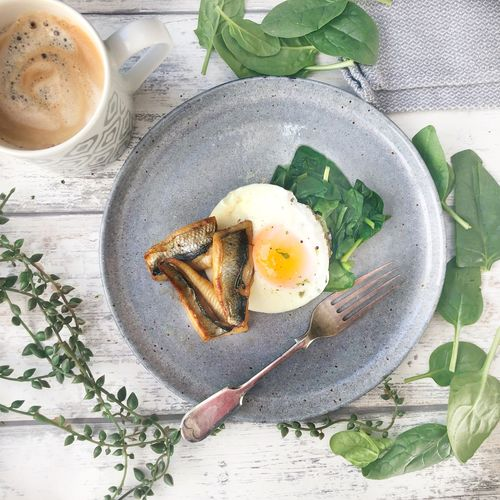 Spinach, Kippers and Eggs