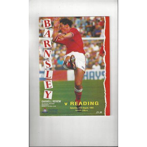 1994/95 Barnsley v Reading Football Programme