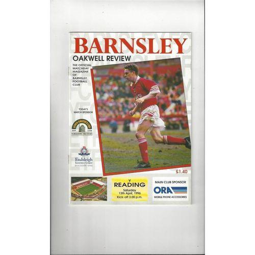 1995/96 Barnsley v Reading Football Programme