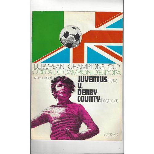 1973 Juventus v Derby County European Cup Semi Final Football Programme