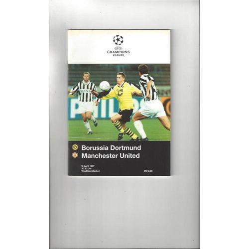 1997 Borussia Dortmund v Manchester United Champions League Semi Final Football Programme