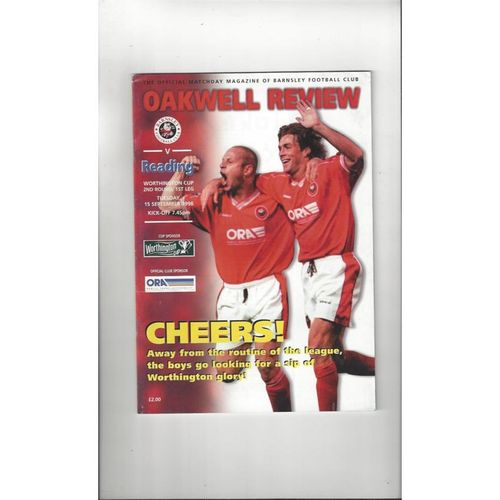 1998/99 Barnsley v Reading Worthington Cup Football Programme