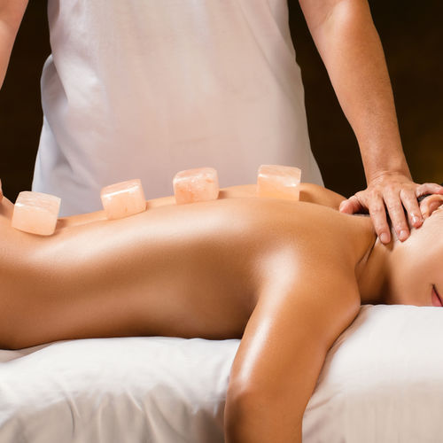 Himalayan hot rock, salt mineral stone & Crystal Gem massage Therapy