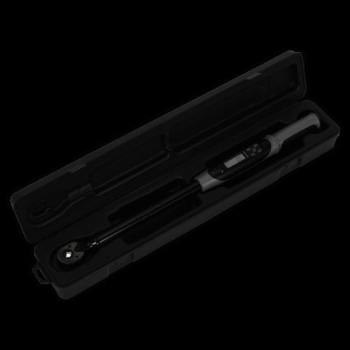 "Angle Torque Wrench Digital 1/2""Sq Drive 20-200Nm(14.7-147.5lb.ft) Black Series - Sealey - STW306B"