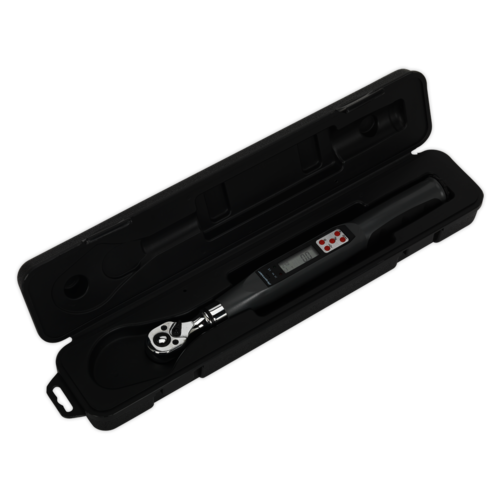 "Torque Wrench Digital 3/8""Sq Drive 2-24Nm(1.48-17.70lb.ft) - Sealey - STW307"