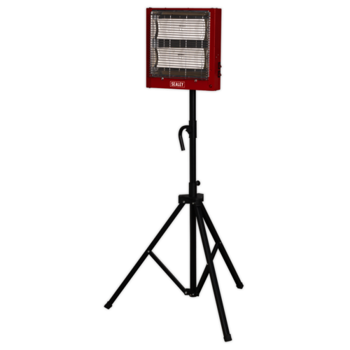 Ceramic Heater with Telescopic Tripod Stand 1.4/2.8kW 230V - Sealey - CH2800S