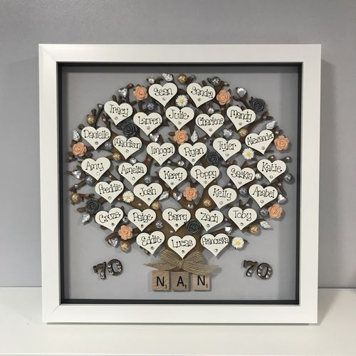 "Extra large "" Floral family tree frame """