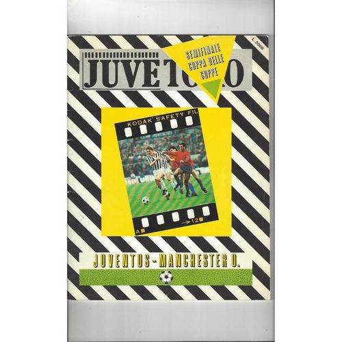 1984 Juventus v Manchester United Cup Winners Cup Semi Final Football Programme