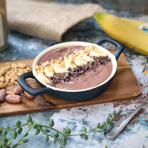 Chocolate and Peanut Butter Smoothie Bowl