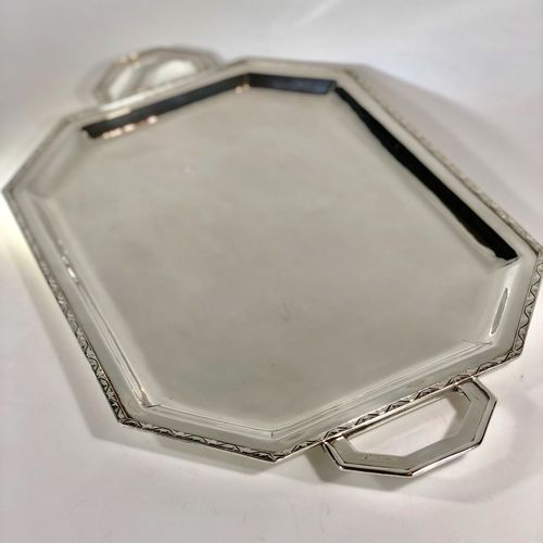 Stunning Art Deco silver plated drinks tray