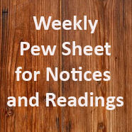Weekly Pew Sheet