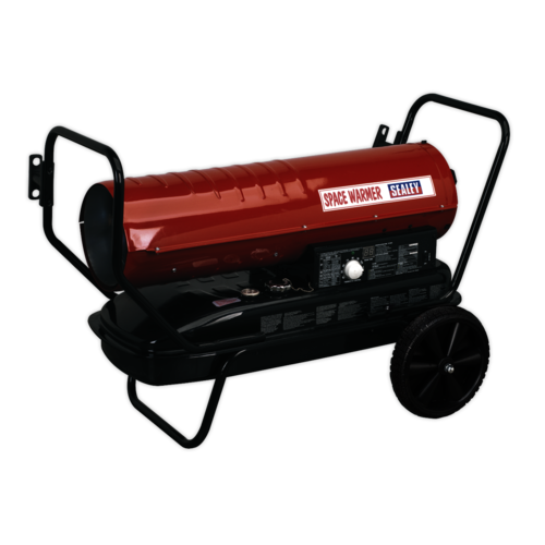 Space Warmer® Paraffin/Kerosene/Diesel Heater 100,000Btu/hr with Wheels - Sealey - AB1008