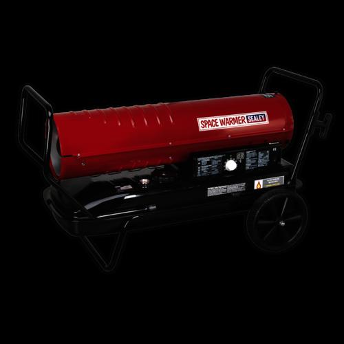 Space Warmer® Paraffin/Kerosene/Diesel Heater 215,000Btu/hr with Wheels - Sealey - AB2158