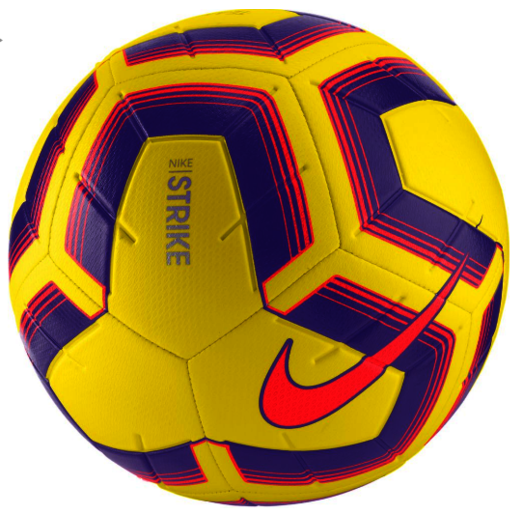 Bundle of 5 Yellow/Blue Nike Strike Team Footballs