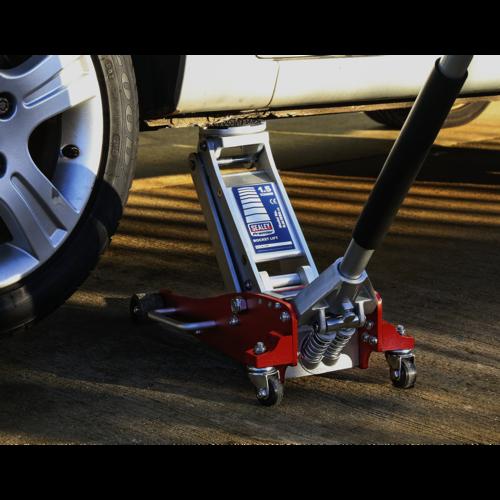 Trolley Jack 1.5tonne Low Entry Aluminium Rocket Lift - Sealey - RJA1550