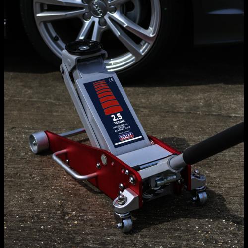 Trolley Jack 2.5tonne Aluminium/Steel Rocket Lift - Sealey - RJAS2500