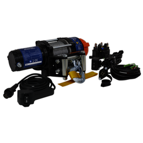 ATV/Quad Recovery Winch 1135kg (2500lb) Line Pull 12V - Sealey - ATV1135