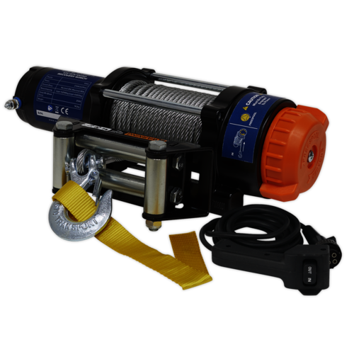 ATV/Quad Recovery Winch 2040kg (4500lb) Line Pull 12V - Sealey - ATV2040