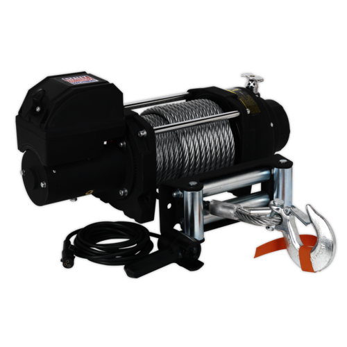 Recovery Winch 8180kg (18000lb)Line Pull 12V Industrial - Sealey - RW8180