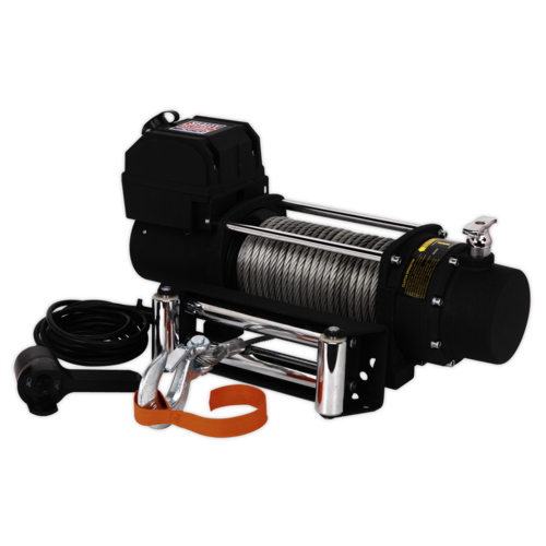 Self Recovery Winch 4300kg (9500lb) Line Pull 12V - Sealey - SRW4300