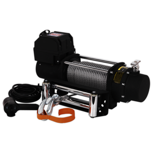 Self Recovery Winch 5450kg (12000lb) Line Pull 12V - Sealey - SRW5450
