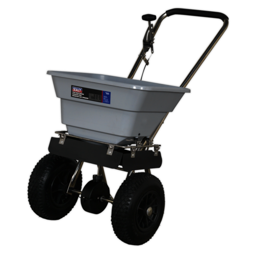 Stainless Steel Broadcast Salt Spreader 37kg Walk Behind - Sealey - SSB37W