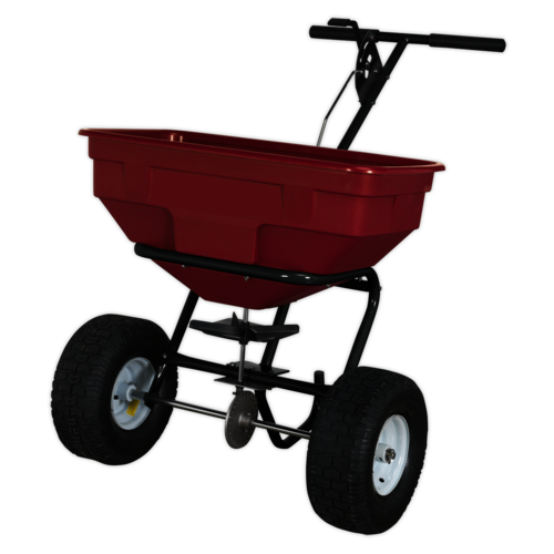 Broadcast Spreader 57kg Walk Behind - Sealey - SPB57W