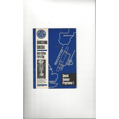 1966 Barcelona v Chelsea UEFA Fairs Cup Semi Final CCTV edition Football Programme