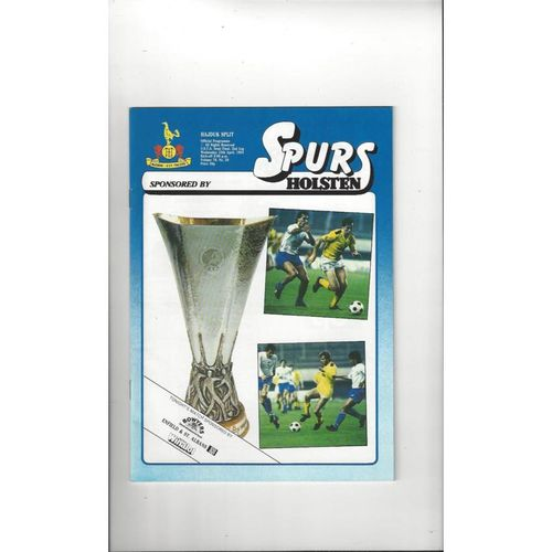 1984 Tottenham Hotspur v Hajduk Split UEFA Cup Semi Final Football Programme 1984