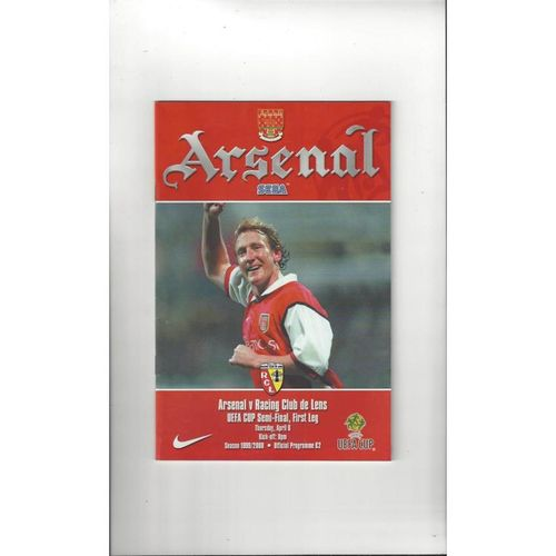 2000 Arsenal v Racing Club de Lens UEFA Cup Semi Final Football Programme