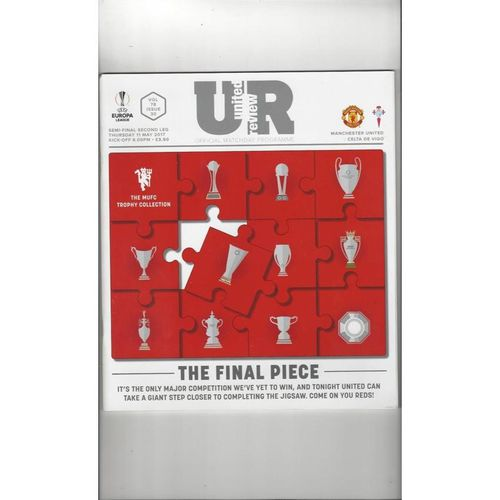 2017 Manchester United v Celta Vigo Europa League Semi Final Football Programme