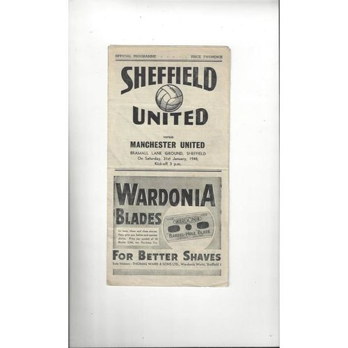 Sheffield United Home Football Programmes