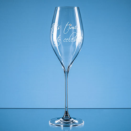 "320ml ""It's time to celebrate"" Diamante Prosecco Glass"