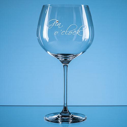 "610ml ""Gin o'clock"" Diamante Gin Glass"