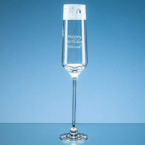 "190ml ""18"" Frieze Design Champagne Flute"
