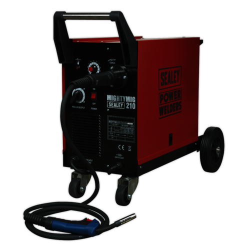 Professional Gas/No-Gas MIG Welder 210Amp with Euro Torch - Sealey - MIGHTYMIG210