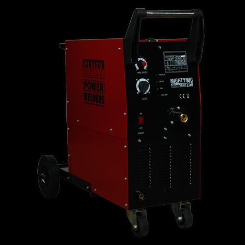 Professional Gas/No-Gas MIG Welder 250Amp with Euro Torch - Sealey - MIGHTYMIG250