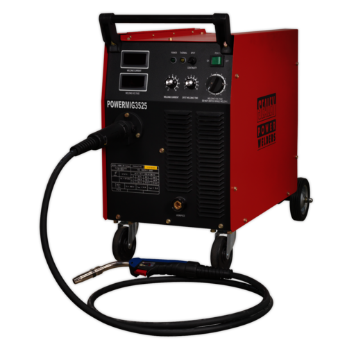 Professional MIG Welder 250Amp 415V 3ph with Binzel® Euro Torch - Sealey - POWERMIG3525