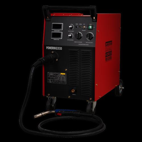 Professional MIG Welder 300Amp 415V 3ph with Binzel® Euro Torch - Sealey - POWERMIG3530