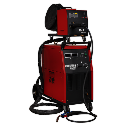 Professional MIG Welder 250Amp 415V 3ph with Binzel® Euro Torch - Sealey - POWERMIG6025S