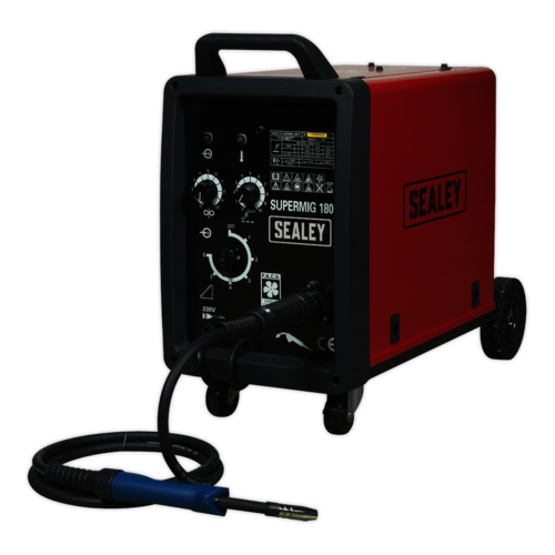 Professional MIG Welder 180Amp 230V with Binzel® Euro Torch - Sealey - SUPERMIG180