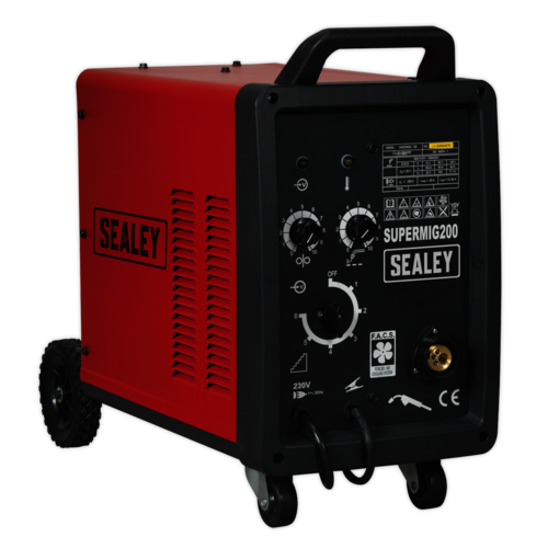 Professional MIG Welder 200Amp 230V with Binzel® Euro Torch - Sealey - SUPERMIG200