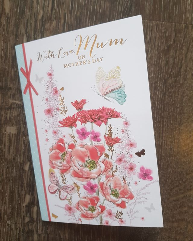 Mum Red Flowers Mother's Day Card
