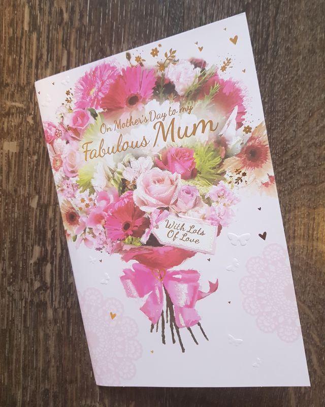 Mum Bunch of Flowers Mother's Day Card