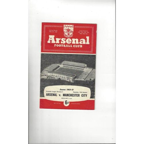 1960/61 Arsenal v Manchester City Football Programme