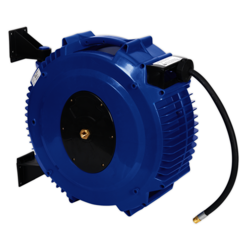 Retractable Air Hose Reel 20mtr Ø10mm ID Rubber Hose - Sealey - SA88