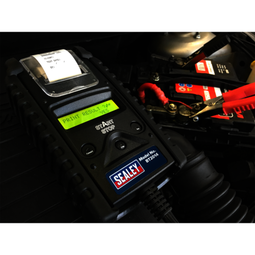 Digital Battery & Alternator Tester with Printer - Sealey - BT2014