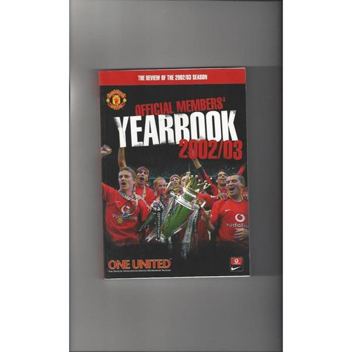Manchester United Official Members Football Yearbook 2002/03