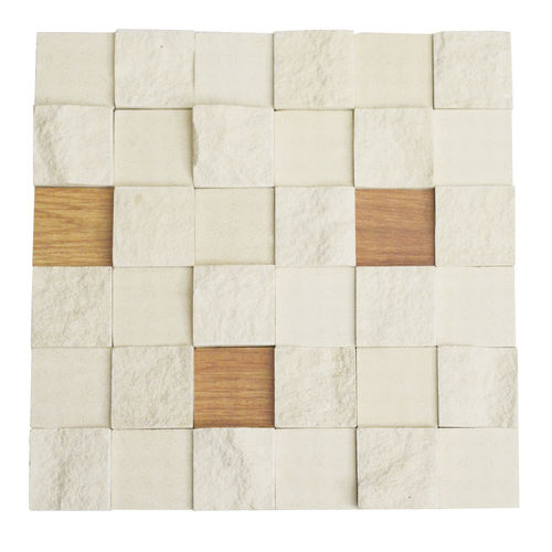 Limestone & Wood Mix Mosaic